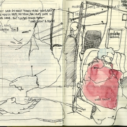 wil freeborn is an incredible artist, who captures the everyday in his sketches.  check out his work at ghostschool.co.uk