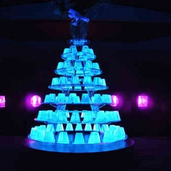 The Jellymongers created an edible glow-in-the-dark-jelly installation at the Museum of Modern Art