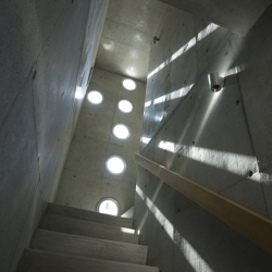 Japanese architects EASTERN Design Office have completed a house punctured by circular holes in Gojo, Japan.