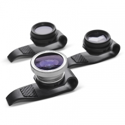 Clip on Fisheye, Polarizing or Mirage lenses for iPhone, iPad or anything really...