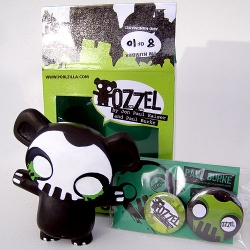 This Punisher Ozzel is SO CUTE, and on top of being hand  cast in resinplaster, hand finished, and hand painted... he even comes with 2 cute handmade pins.