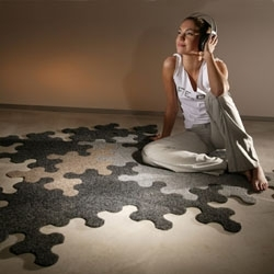 Puzzle surfaces come in handy - beautiful and entertaining - a collection of puzzle carpets, etc.