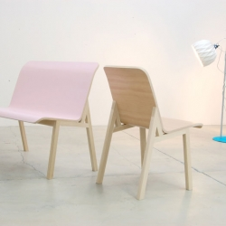 #3 Chair is a strong simple chair that draws its influences from two classic pieces of Egyptian furniture. The seat is laminated in large sections, which can produce a bench or two chairs. By Studio Gorm.