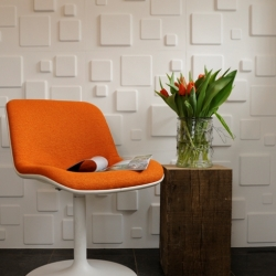 Eco friendly 3d-wallpanels made out of sugarcane bagasse by MyWallArt.