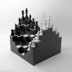 3D Chessboard by Ji Lee