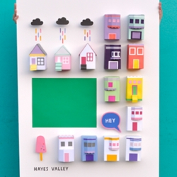 A DIY project by graphic designer Chloe Fleury depicting various areas of San Francisco through 3D City Posters.