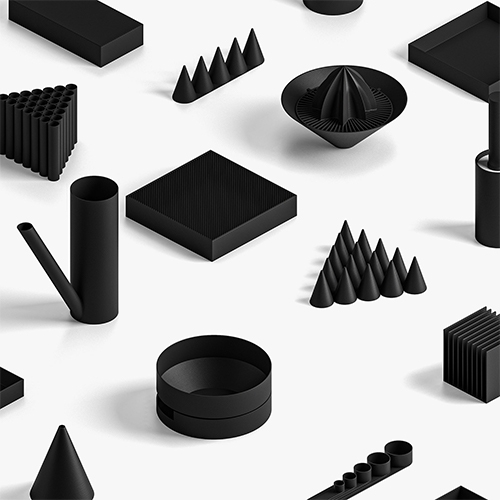 Nothing Else collection by Boem - 3D print them yourself! Canisters, egg cups, juicer, plates, watering cans, lights, planters, vases and more