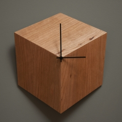 The 3P clock (3 vanishing points) by Robocut studio in collaboration with Baron magazine creates the illusion of a 3 dimensional cube on your wall.
