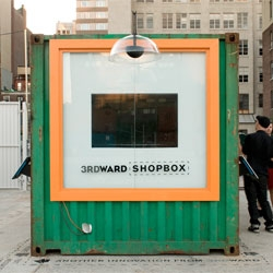 Brooklyn's 3rd Ward's Shopbox built inside a repurposed storage container unit.