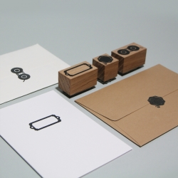 POSH STAMS. Handmade solid oak rubber stamps that add a little traditional luxury to your paper work. Designed by Moko.