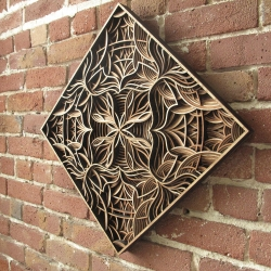 New limited edition laser-cut work by Oakland artist Gabriel Schama.
