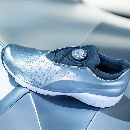 Puma has teamed up with BMW's Designworks division to develop these ultramodern shoes inspired by the GINA Light concept.