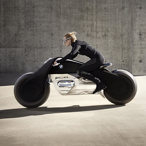 BMW has unveiled its fourth Vision Vehicle, the BMW Motorrad VISION NEXT 100.