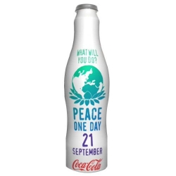 Following the success of its limited edition collectible Original Glass Bottles, Coca-Cola is introducing the 'Peace' bottle to celebrate 'Peace Day'