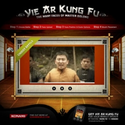 "The Faces of Oolong viral microsite was launched to promote Konami Mobile's new ""Yie Ar Kung Fu"" game for mobile devices. Check out the hilarious old-style vidoes, customize them with your own headshot and send to a friend."