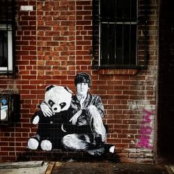 Beautiful street art in tribute to John Lennon.