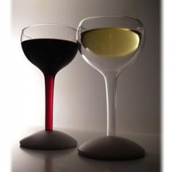 I'm fascinated by these Silo - silodesign wine glasses - single walled and double walled