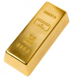 There is just something wonderful about propping my door open with a life size gold bar. ~ Gold Doorstop by Arik Levy