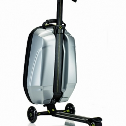 It´s a trolley. Within a few seconds it becomes a scooter. Just want it for traveling around. From Micro + Samsonite