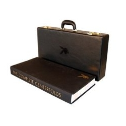 While i'm not really a big playboy person ~ i've been loving the idea of a giant coffee table book that has its own briefcase
