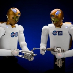 Robonaut is evolving. NASA and General Motors are working together to accelerate development of the next generation of robots and related technologies for use in the automotive and aerospace industries.