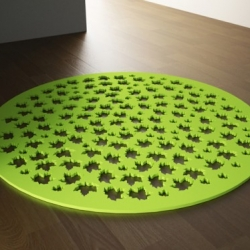 This cute rubber carpets collection by Joel Escalona is incredible. It is durable, resistant and economical. The collection is designed for both indoor and outdoors and is a great way to add a touch of color.