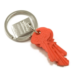 5 Key Keychain by Harry Allen, Area ware,  cast in plastic resin from a stack of 5 keys.