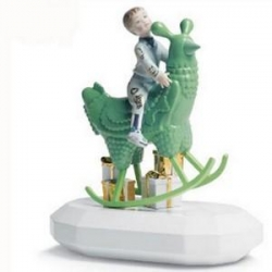 the rocking chicken ride by jaime hayon for lladro - omg, i want the life sized one even more now!