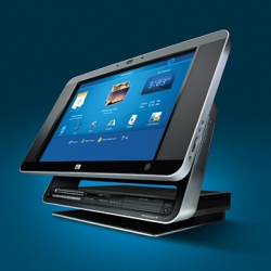The first desktop PC incorporating a touch-screen from Hewlett-Packard. Introducing the - HP TouchSmart IQ770. Yours for just under £1,300.