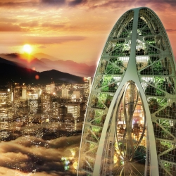 Bionic-Arch is a Futuristic Green Skyscraper for Taichung by Vincent Callebaut Architecte.