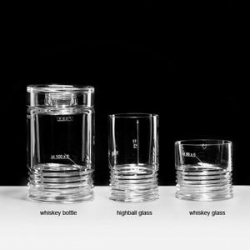 The Czech design firm ruckl has released a set of glassware with measurements and specs etched in at the factory.