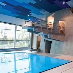Therme Wien spa by 4a Architekten.