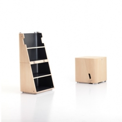 Scalo from Cerruti Baleri can be used as a box, a table or a bookshelf.