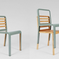 Another clever yet simple design for space-saving furniture. The Twin Chair was designed by French designer Philippe Nigro. Based on the idea of two-in-one, these twin chairs remain functional even when stacked.