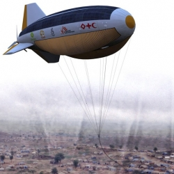 Solarial is an unmanned airship that provides mobile support infrastructure for disaster relief and remote communities, generating renewable energy and supplying communications links where they are needed most