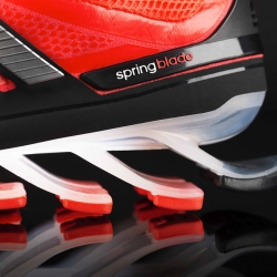 Adidas introduces Springblade, the first running shoe with individually tuned blades engineered to help propel runners forward.