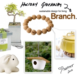 NOTCOT Holiday Giveaway #3: Branch Home is giving one lucky reader a bundle of sustainable goodies for the home!