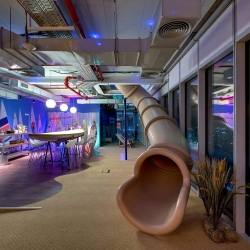 Google Israel has opened its spectacular new offices in the prestigious Electra Tower in Central Tel Aviv. Designed by Swiss Design Team Camenzind Evolution.