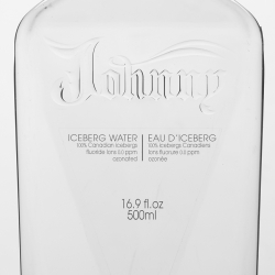 Johnny Water - New Iceberg bottled water harvested and bottled in town of St Anthony in Canada.