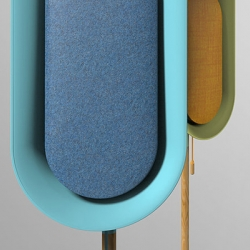 OLi is a stand-type Bluetooth speaker that allows music to fill up your surrounding. OLi is to be stood in different areas of the house instead of filling up spaces on tables or shelves. OLi differentiates itself as more of a furniture rather than a tech-product.
