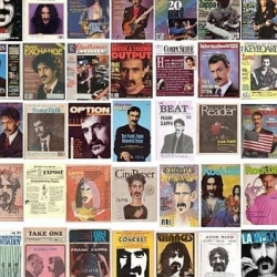 Enormous pic of 500 magazine covers featuring Frank Zappa.