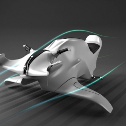 Concept Kite-Driver water craft