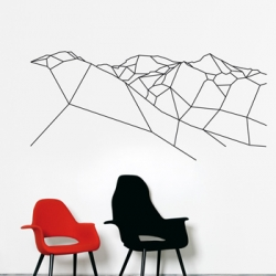 A Mountain For President. A nice piece of wall sticker made by the french electronic duo Principles of geometry for Domestic.