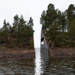 Envisioned as a three-and-a-half-meter wide 'wound' within the landscape, Swedish artist Jonas Dahlberg's powerful monument to those lost in the 2011 Utøya terror attacks has won Oslo's July 22 Memorial competition.