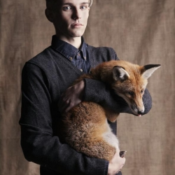 """à parties de la nature"" by Wayne Lennon, foxes, skunks and owls meets fashion."