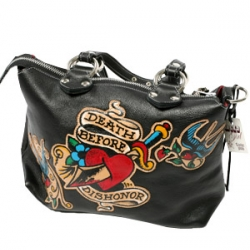 Limited edition collaboration between Lucky handbags and Sailor Jerry brings us only 12  of these leather tattooed bags. $565 each.