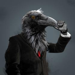 Great artworks from Alex Castro who makes unique animal portraits.