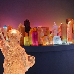 Artist Liz Hickok makes cities out of Jell-O!