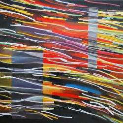 Intermittent Light - the new series of paintings by artist Alison Jardine - explores light at the intersection between art and science.