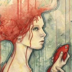 'Concede' Watercolor print by Kelly McKernan.